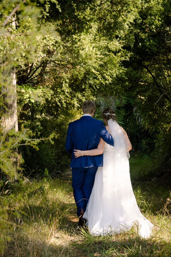 Wooded area for romantic wedding photos kerikeri