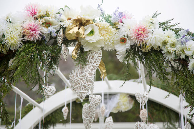 wedding archway at seronera country gardens